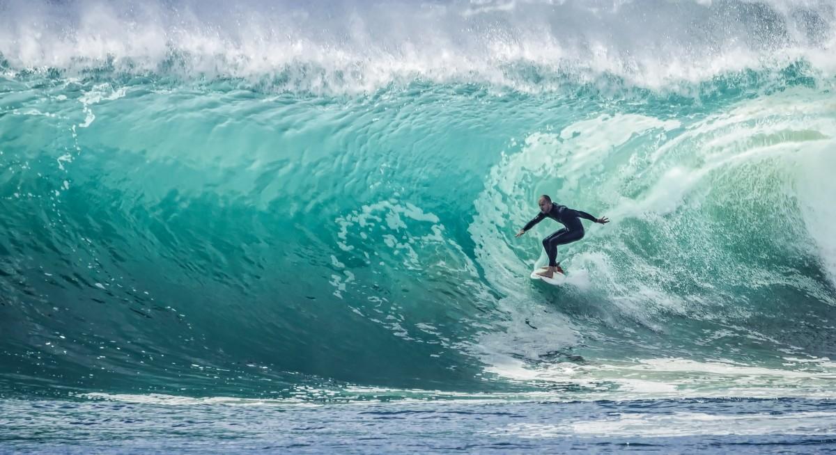 Le surf à Hendaye